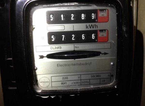 Elektriciteitsmeter met dubbel telwerk (dagtarief - nachttarief), welke moet ik aflezen?